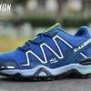 sepatu sport pria salomon tracking blue