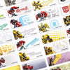 Transformer Sticker Label Ukuran Small Isi 60 . Stiker karakter Optimu