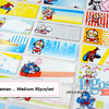 Heroes Sticker MEDIUM Name Label. Stiker karakter campuran hero ultram