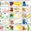 Elmo Sticker MEDIUM Name Label. Stiker karakter Sesame Street Big Bird