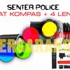 Senter SWAT POLICE,charger internal 2 unit colok & mobil, sinar putih
