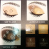 THE BODY SHOP DOWN TO EARTH QUAD SMOKY GOLD 01 EYE PALETTE 4 X 2.2 g
