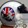 Helm Bogo Gix Nasa England Lion White / Retro / Lucu
