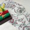kain batik semi tulis putih set embos//manvis batik pekalongan