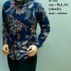 Kemeja Batik pria modern slim fit lengan panjang D-267