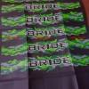 Kulit / Cover / Sarung Jok Motor Sablon Motif BRIDE BRIDE ARMY