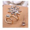 Ear clip gold double + anting | anting jepit | aksesoris import murah