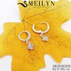 MEILYN ANTING CLIP MATA ZIRCON SILVER 2622030335 MEILI