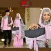 abidah mukena pink + koko