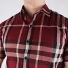KEMEJA BURBERRY BRIT IMPOR PREMIUM RED FLAME CLASSIC CHECK BEST PRICE
