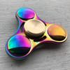Fidget Spinner Rainbow Metalic Premium Tri Side / 3 sisi Bulat Termura
