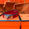 Hermes Red Kelly Double Tour Epsom Import Leather Bracelet