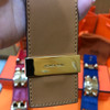 Hermes CDC Red Crocodile Leather