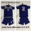 Stelan Kostum Jersey Tim Futsal Sepakbola Isi 12 SABLON Nomor PN.19B