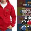 ZIPPER THE FLASH - JAKET HOODIE LOGO SUPERHERO ORDINAL APPAREL