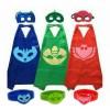 PJ MASK set jubah + topeng + gelang Catboy / Owlette / Gekko