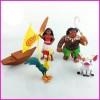 Action Figure / Miniatur Disney Princess Moana set isi 5 Boat / Perahu