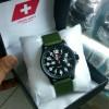Jam Tangan Swiss Army Pria Canvas Black
