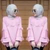 Blouse muslim jennita baby pink