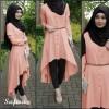 Baju hijab new safira peach