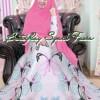 Baju gamis n buterfly katun pink