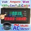 AC Multi Meter Volt Ampere Watt kWh Cos Phi 2 Colour Panel Display