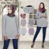 tunik strip 3 JPC baju atasan baju muslim wanita