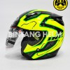 Helm INK Centro Jet Motif Yellow Fluo Black Green