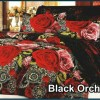 sprei FATA SIGNATURE motif black orchid uk. 180 dan 160