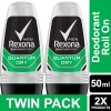 Rexona Men Anti-Perspirant Deodorant Roll On Quantum 50ml Twin Pack
