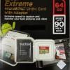Sandisk Extreme Micro Sdhc Uhs-I U3 Class 10 64GB