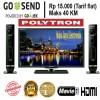 Led Polytron 24 inch PLD24T810 speaker murah cinemaX new !!