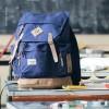 Visval Bag Rave Navy Vintage Ransel Backpack Kuliah Travelling Outdoor
