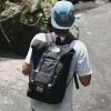 Visval Bag Grande Black Vintage Ransel Backpack
