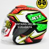 Helm KYT Kyoto Red Yellow Green Fluo