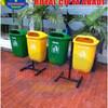 Tempat Sampah Fiberglass Pilah 2 IN 1
