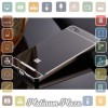 Aluminium Bumper with Mirror Back Cover for Xiaomi Mi 4i`67CNUB- Black