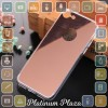 Aluminium Bumper with Mirror Back Cover for iPhone 7`67CH9E- Rose Gold