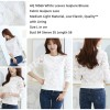 HQ 18566 White Leaves Guipure Blouse