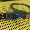 Kabel Micro-USB Pendek (30cm) Biru Bening