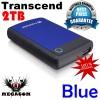 Transcend StoreJet 2TB Portable USB 3.0 External Hardisk - Blue