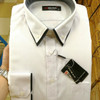 kemeja BOSS slim fit doby putih panjang. EXCLUSIVE