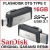 Flashdisk OTG Sandisk Ultra Dual Drive USB Type-C 16GB