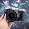 Canon EOS M6 dan lensa kit 15 45mm. mulus. murah.