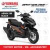 YAMAHA AEROX 155 VVA BLACK / HITAM - JKT BNTN