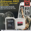 SanDisk MicroSD Extreme Pro 64GB Class10 UHS-I 4K Speed 95MB/s