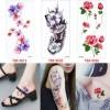 Small Size Flower Temporary Tattoo Sticker - Stiker Tato Sementara thumbnail