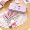 Kuas Make Up Hellokitty Isi 7 in 1 Brush Makeup Kaleng Hello Kitty Set thumbnail