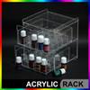 Rak Essential Oil Model Laci 2 Tingkat Bahan Acrylic Isi 40 - Clear thumbnail