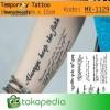 QC-809 TATO TEMPORER Temporary Tatoo sticker tulisan Word love 1
